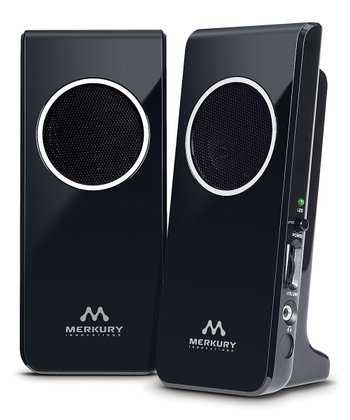 Black Amplified Stereo Speaker