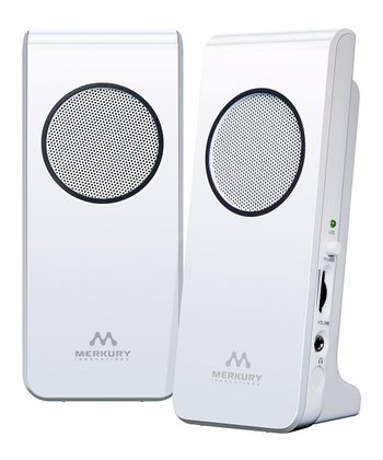 White Amplified Stereo Speaker
