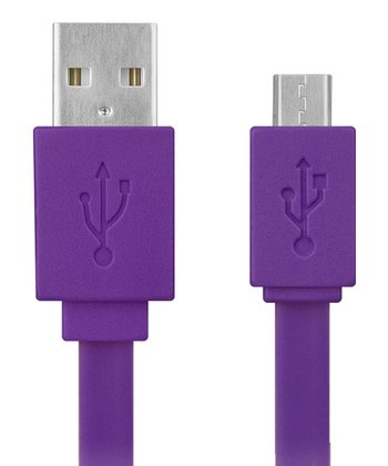 Purple Micro USB Flat Cable
