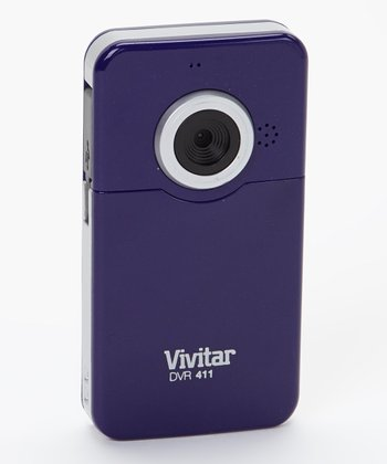 Purple 1.3 MP Flip-Screen Digital Video Recorder