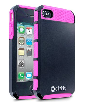 Black & Hot Pink Double Take Case for iPhone 4/4S