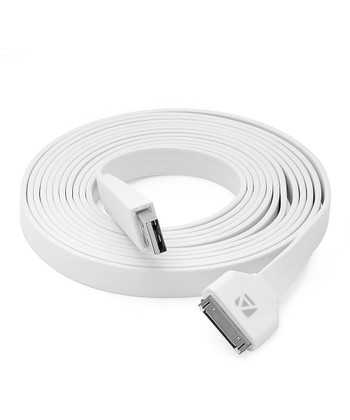 White 10' 30-Pin Charge & Sync Cable for iPhone/iPad