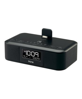 Dual-Alarm Stereo Clock Radio for iPad/iPhone/iPod