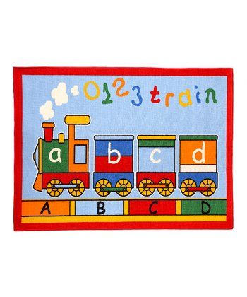 Medium ABC Train Rug