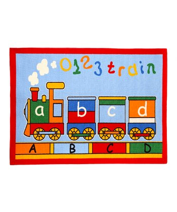 Large ABC Train Rug
