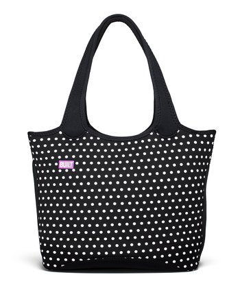 Black Polka Dot Everyday Shoulder Tote