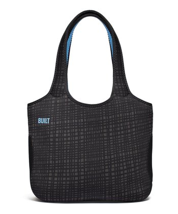 Graphite Grid Neoprene Tote Bag