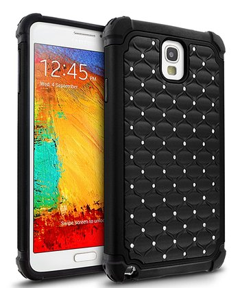 Black Hybrid Ripple Case for Samsung Galaxy Note 3
