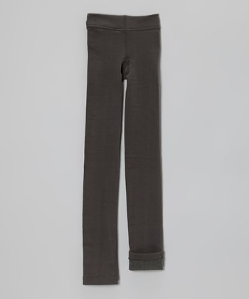 Gray Fleece-Lined Leggings - Toddler & Girls