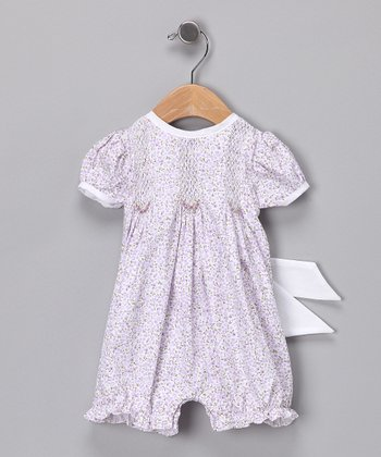 Purple Floral Romper - Infant
