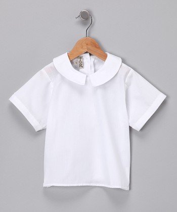 White Collar Top - Infant & Toddler