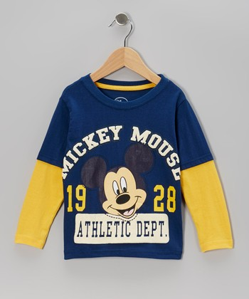 Blue & Yellow 'Mickey 1928' Layered Tee - Infant & Toddler