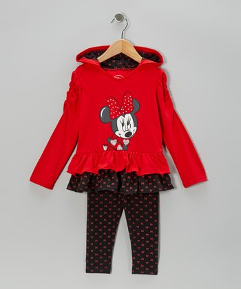Red Polka Dot Minnie Hooded Tunic & Leggings - Infant & Toddler