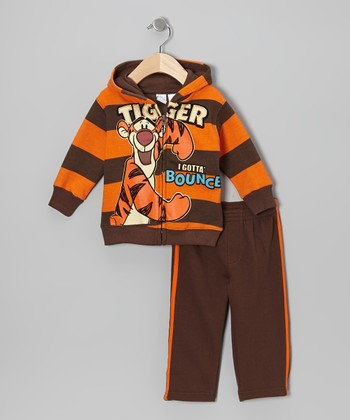 Orange & Brown 'Trigger' Hoodie & Pants