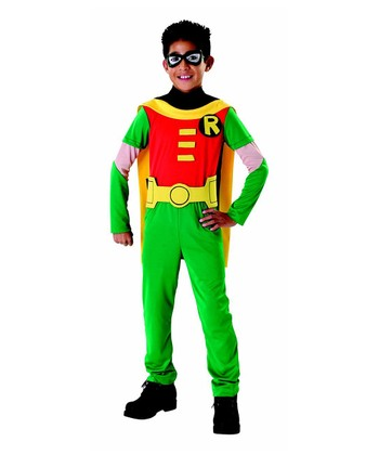 Red & Lime Robin Dress-Up Set - Boys