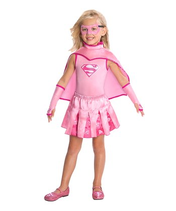 Pink Supergirl Pleated Skirt - Girls