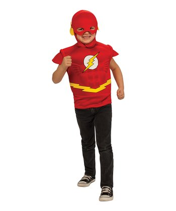 Red Flash Muscle Dress-Up Set - Boys