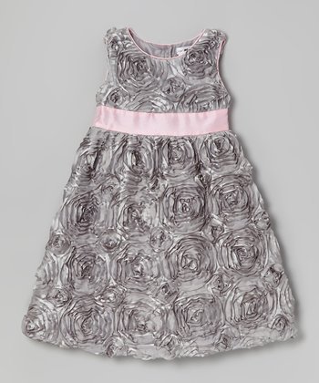 Silver & Pink Alexandria Dress - Infant & Toddler