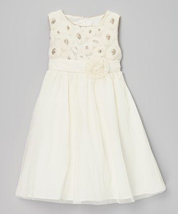 Ivory Bead Dress - Infant