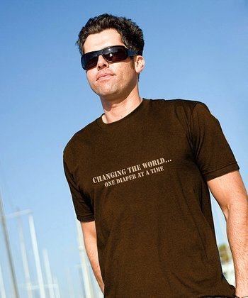 Brown 'Changing the World' Tee - Men