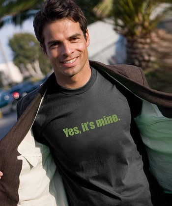 Black 'Yes, It's Mine' Tee - Men