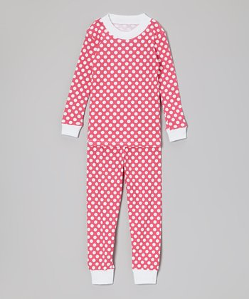 Pink Polka Dot Pajama Set - Toddler & Girls