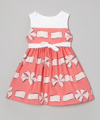 Pink Polka Dot Bow Dress - Infant, Toddler & Girls