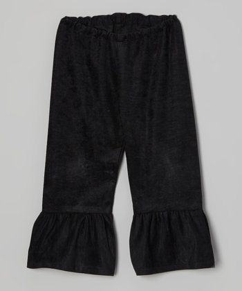 Black Ruffle Pants - Toddler & Girls