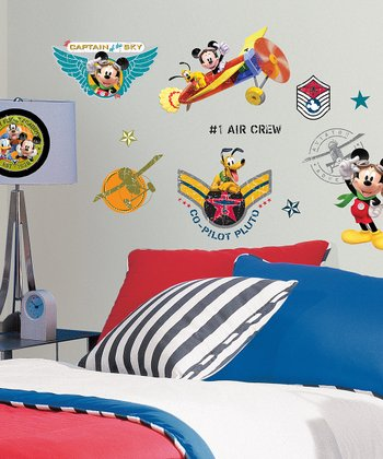 Mickey & Friends Clubhouse Pilot Wall Decal Set