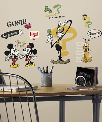 Vintage Mickey & Friends Wall Decal Set