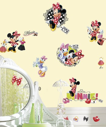 Minnie Loves to Shop Wall Decal Set