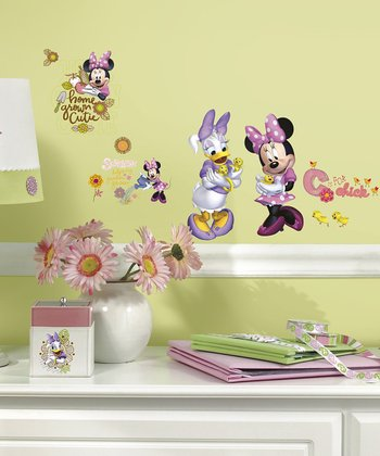Minnie Mouse Barnyard Cuties Wall Decal Set
