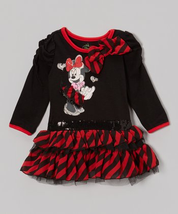 Black & Red Minnie Tutu Dress