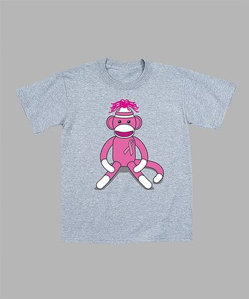 Gray Sock Monkey Tee - Toddler & Kids