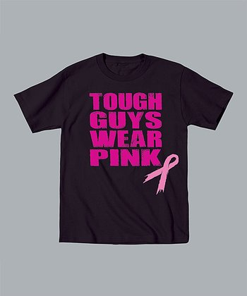 Black 'Tough Guys Wear Pink' Tee - Toddler & Kids