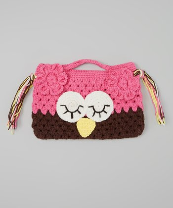 Hot Pink & Brown Owl Purse