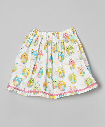 Blue & Pink Owl Skirt - Infant, Toddler & Girls