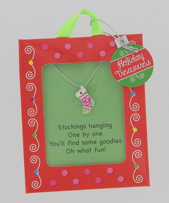 Silver Stocking Necklace