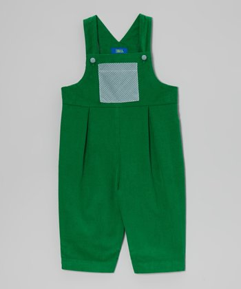 Kelly Green Corduroy Overalls - Infant & Toddler