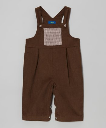 Brown Corduroy Overalls - Infant & Toddler