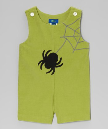 Green Spider Shortalls - Infant & Toddler