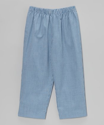 Blue Gingham Pants - Boys