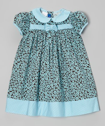 Brown Floral Corduroy Dress - Infant & Toddler
