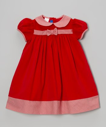 Red Corduroy Dress - Infant & Toddler