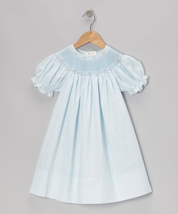 Blue Bishop Short-Sleeve Dress - Infant, Toddler & Girls