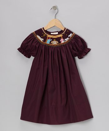 Dark Purple Nativity Bishop Dress - Infant & Toddler