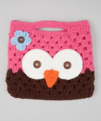 Pink & Brown Owl Purse