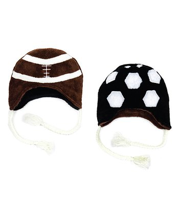 Luvali Chocolate Football & Soccer Reversible Beanie
