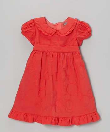 Red Ruffle Peter Pan Dress - Infant & Toddler