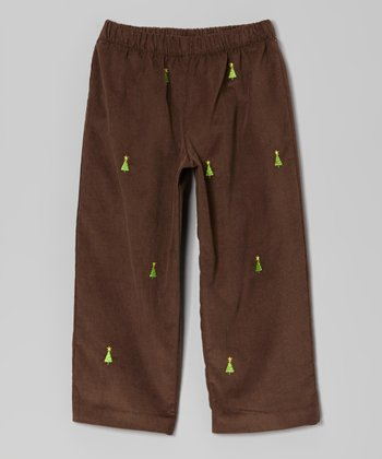 Brown Christmas Tree Pants - Infant